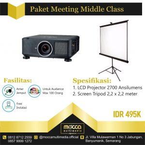 harga Paket sewa proyektor semarang middle meeting