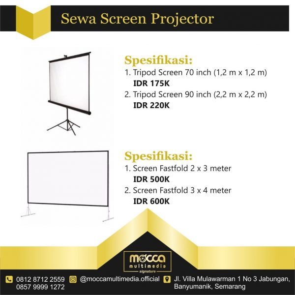 daftar harga sewa screen proyektor
